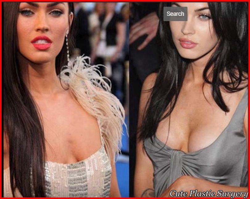 plastic surgery boobs before megan fox